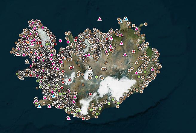 Iceland Saga Map